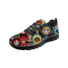 Russian Matryoshka Print Women Flats Super Cute Ladies Leisure Sneakers Zapatos Mujer Nurse Loafers for Work Outside Flat Shoes