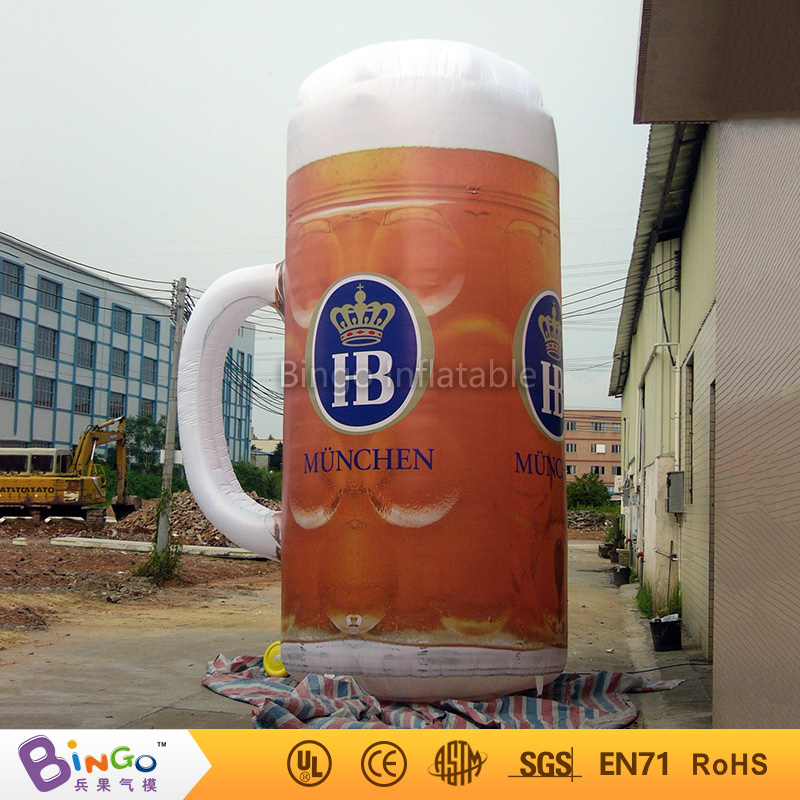 advertising 5m high inflatable beer cup with led lighting for Oktoberfest party Model Building Kits BG-A0159 biginflatabel cask inflatabel beer can with led lighting 3 5m high for oktoberfest festival party model building kits