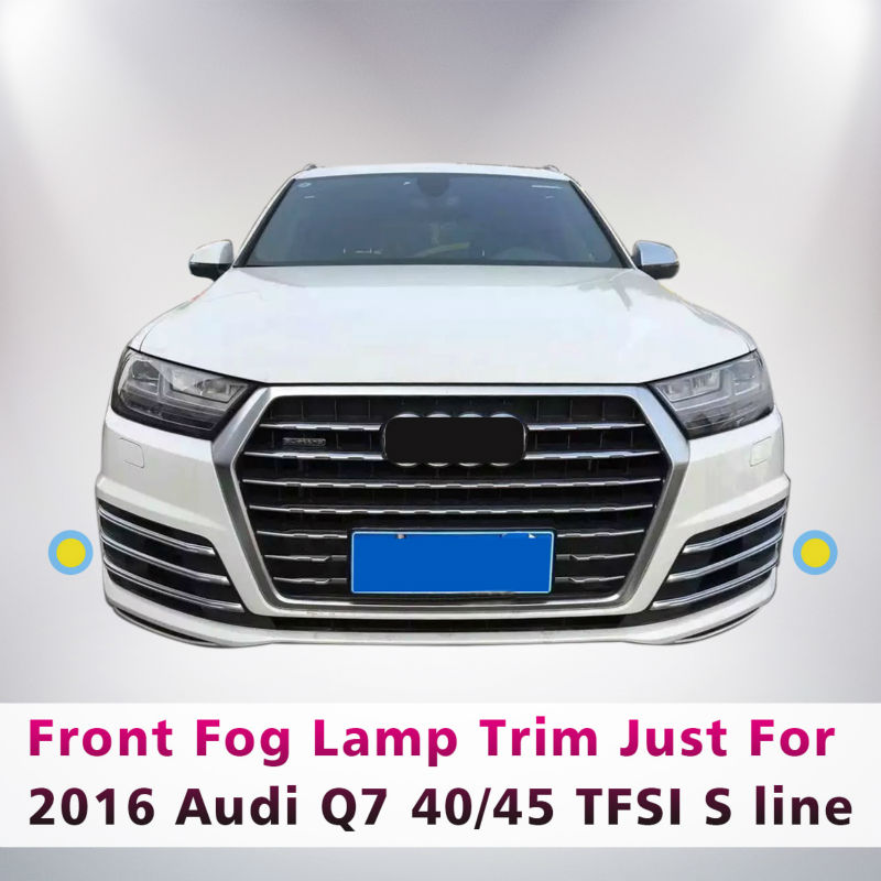 6PCS/SET ABS CHROME FRONT GRILLE FOG LAMP LIGHT TRIM STICKER FOR 2016 AUDI Q7 TFSI S LINE SPORT CAR STYLING ACCESSORIES nillkin protective pu leather pc case cover for sony xperia z1 compact m51w black
