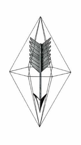 10ce2049041f0 ... Waterproof Temporary Fake Tattoo Stickers Grey Geometric Arrow Feather  Vintage Design Body Art Make Up Tools