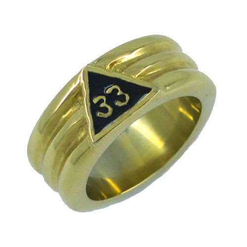 5d3efbf111147 US $3.29 6% OFF|Gold 33 Masonic Ring Stainless Steel Jewelry Classic  Freemasonry Mason Biker Men Ring Wholesale SWR0022G-in Rings from Jewelry &  ...