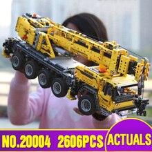 DHL 20004 моторная техника Мощность автокран Mk II Модель Строительство наборы игрушечные кирпичи Рождественский подарок 42009 модель