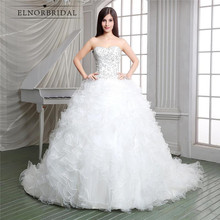2018 Luxury Wedding Dresses Plus Size Designer Western Vestidos De Novia Con Encaje Ruffle A Line Bridal Gowns Custom Made