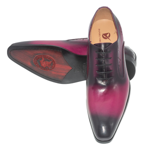 Image 5 - Daniel virea สีม่วง Handmade อย่างเป็นทางการสำนักงานธุรกิจรองเท้า Mens งานปาร์ตี้และงานแต่งงานหนังผู้ชาย oxfords รองเท้า