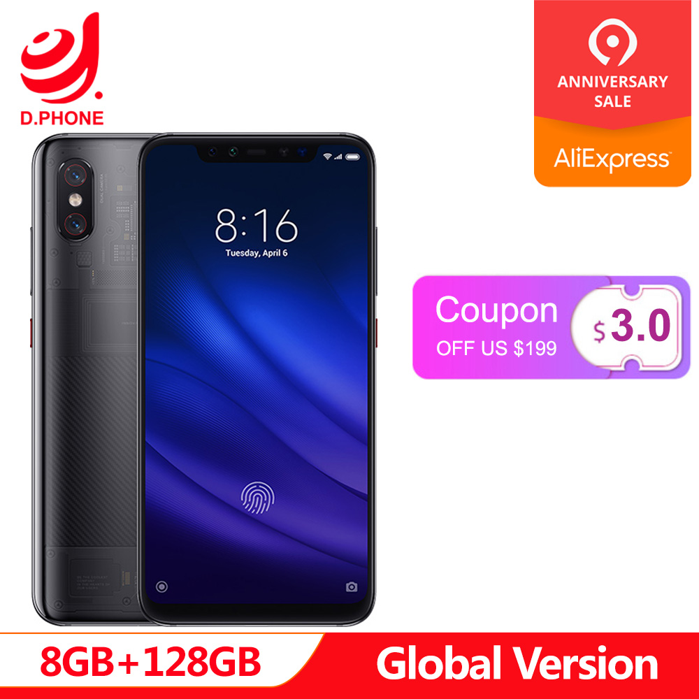 En Stock Version mondiale Xiao mi 8 Pro 8 GB 128 GB 6.21 ''plein écran Snapdragon 845 Octa Core double bande GPS NFC mi 8 Pro téléphone