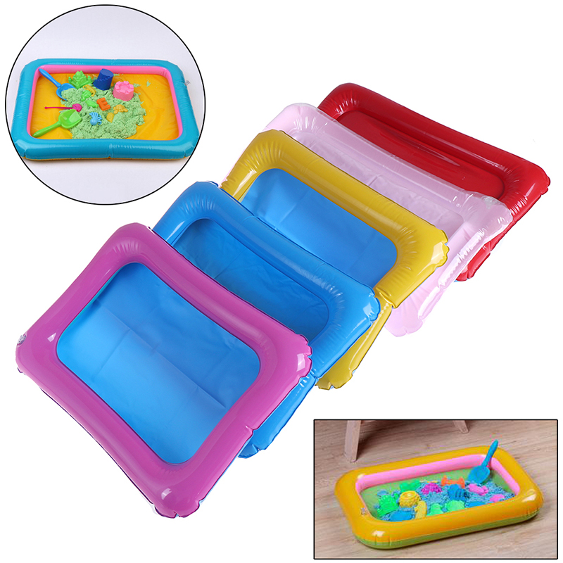 Indoor Magic Play Sand Children Toys Mars Space Inflatable Sand Tray Accessories Plastic Mobile Table Kid Party Play