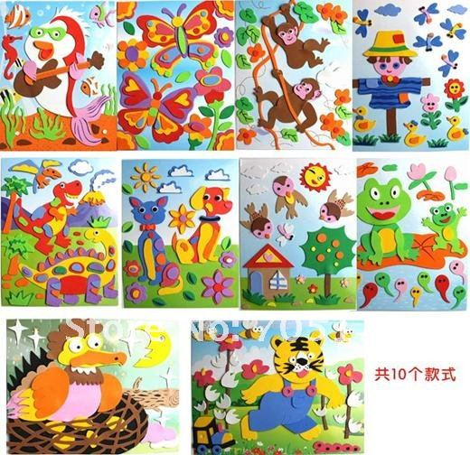 DIY Models,Home Adornment 3D puzzle Children's educational