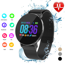 YILIZOMANA Smart Bracelet Waterproof LED Touch Screen Heart Rate Fitness Tracker Smart Metal Wristband For Android IOS