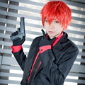 Karma Akabane Assassination Classroom Cosplay Wigs Short Red Halloween Christmas Party Wigs