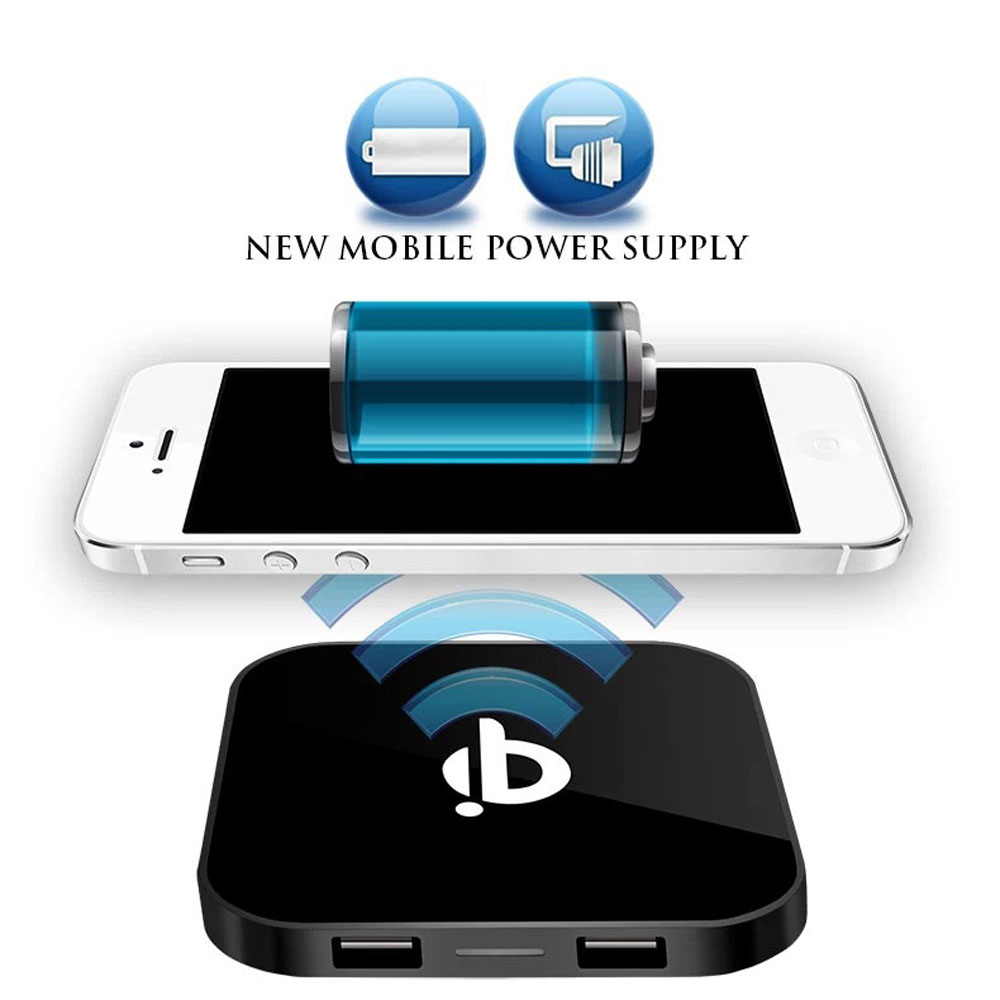 Dual Usb Qi Wireless Charger Pad Phone Charging Mat For