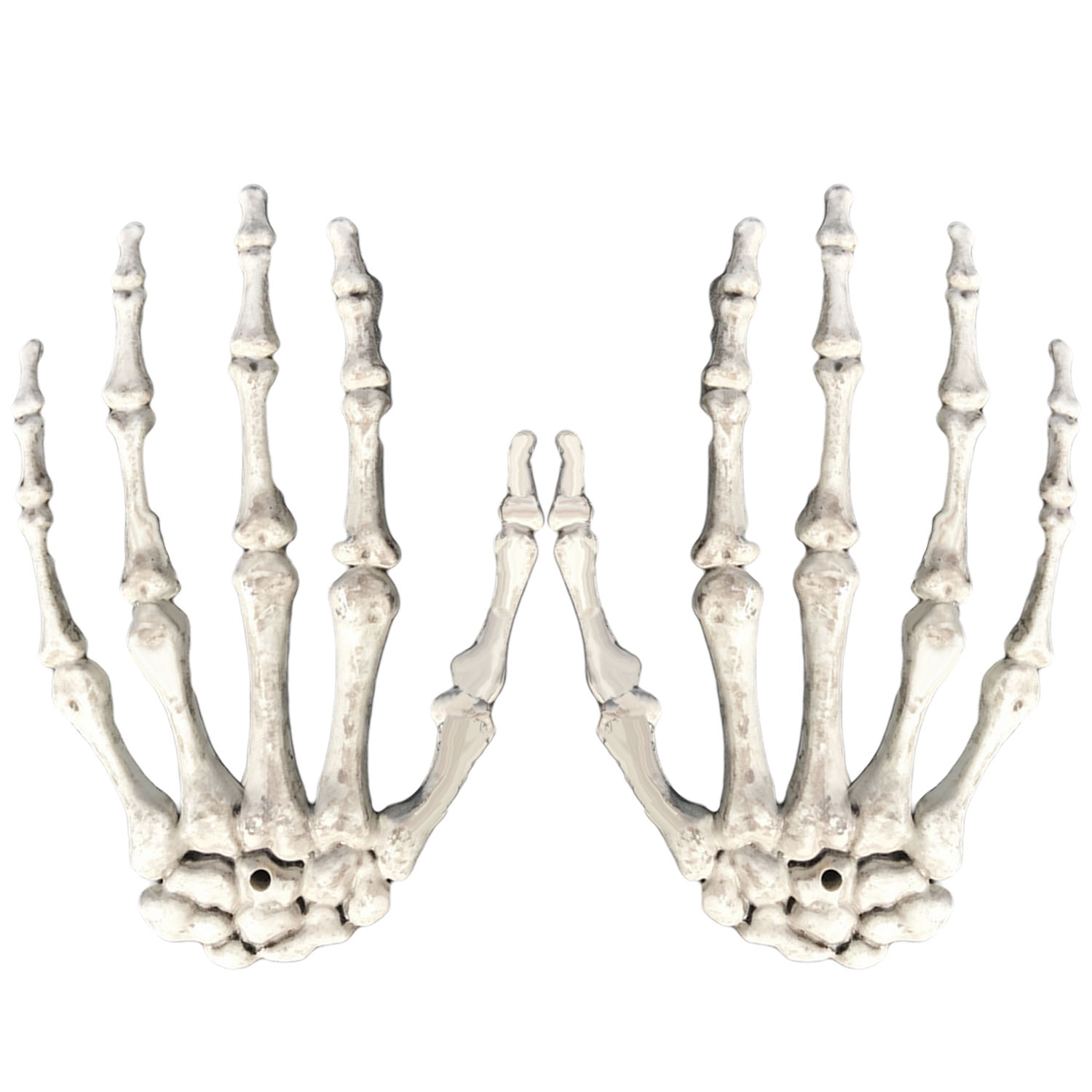 TAOS 1 Pair Plastic Scary Halloween Skeleton Hands Life Size Hands Haunted House Escape Horror Props for Halloween Decoration