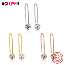 100% Real Pure 925 Sterling Silver Luxury Drop Earrings For Women Sterling Silver CZ Zircon Jewelry Wholesale Tassel Earrings