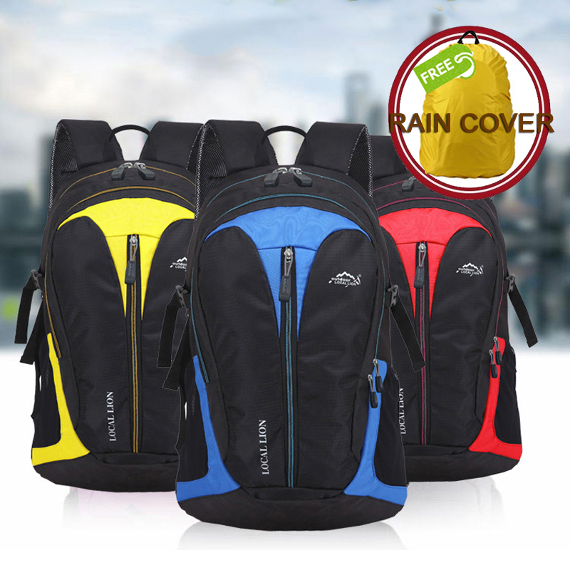 25L Hiking Backpack Water Resistant Travel Trekking Backpack Outdoor Cycling Backpack Bike Bag School Bag free Rain Cover anmeilu bike backpack with reflective safety color 25l waterproof cycling bag outdoor bike travel bag rucksack