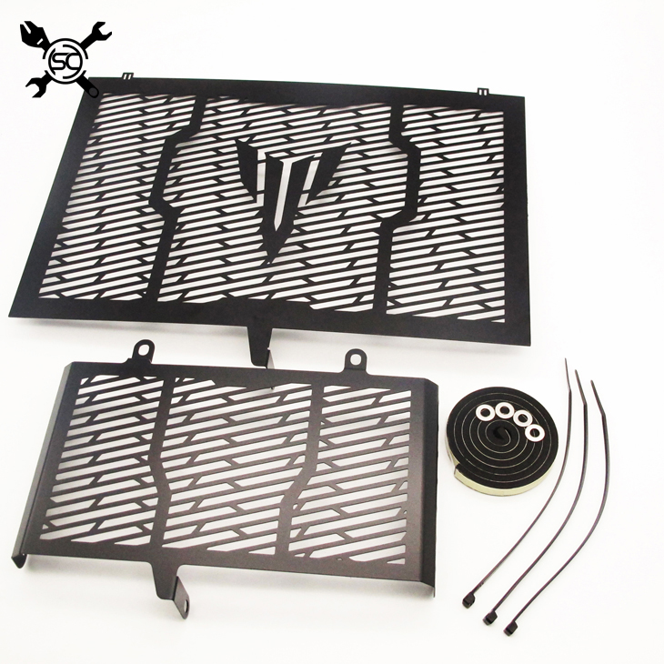 Color Black Stainless Steel Motorcycle Radiator Guard Radiator Cover Fits For Yamaha MT-10 MT10 FZ10 FZ-10 2016 2017 MT 10 FZ