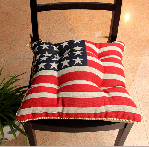 Hot New American Flag Chair Cushion Filling Cotton Linen Cushion Fat Pad  United States Bread Mat Thick Sofa Cushion Decoration In Cushion From Home  U0026 Garden ...