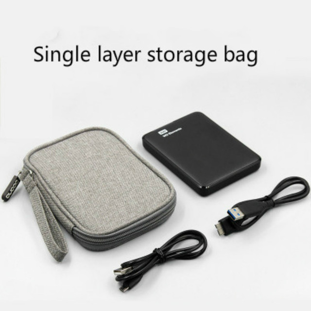 Oxford cloth Portable Cable Storage Organizer Bag Shockproof Earphone Bag Pen Power Digital USB Cable Sorting Travel Insert Bags