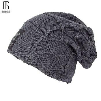9bc0ee11341c1 Super fresco cráneo patrón sombreros para hombres gorros de lana de punto  sombreros de invierno para los hombres sombrero de hombre casual invierno  sombrero ...
