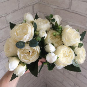 firlar Artificial Flowers Bouquet Wedding Fake Rose