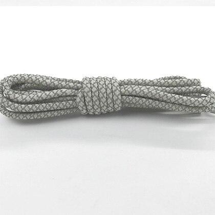 Leyou 100-160cm люминесцентная лампа кроссовки шнурки спортивные шнурки 3м Reflective круглые веревочные шнурки светлые шнурки Led - Цвет: Gray