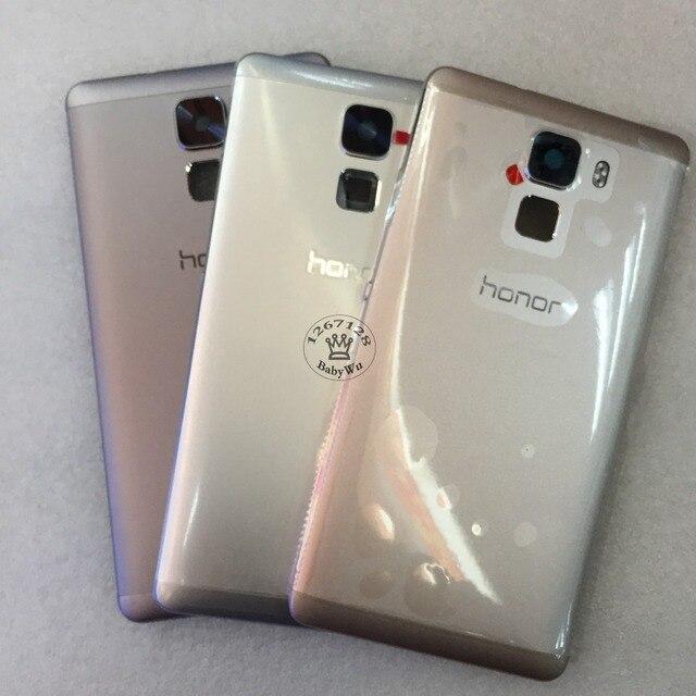 Для Huawei Honor 7 Оригинальный Задний Задняя Крышка Батарейного Отсека с Задней Камеры Крышка Объектива Стекло Замена Ремонт Запчасти Honor7