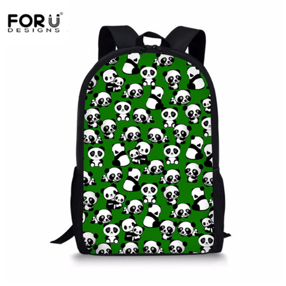 FORUDESIGNS Cute Kids Schoolbag 3D Zoo Animal Panda Pug Raccoon School Bags For Teenager Korean Style Canvas Book Bags Wholesale