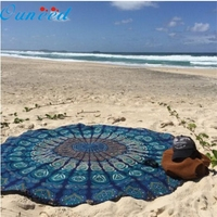 New Muti Founctional Round Beach Pool Home Shower Towel Blanket Table Cloth Yoga Mat Jan19