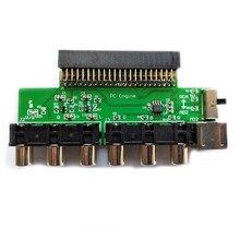 Усилитель видеосигнала карты RGBS, аудиовыход сигнала для консоли двигателя NEC PCE PC для консолей Grafx TV AC RGBS