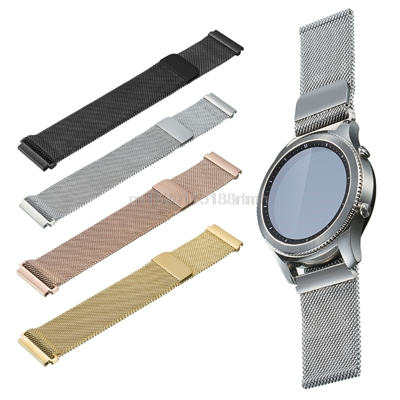 Metal Stainless Steel Milanese Loop Watch band Strap For Samsung Gear Sport R600 D22 drop Shipping 0 127mm standard stainless steel wire brush for metal anilox roller