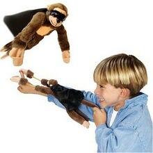Monkey кричать flying toy рогатки забавные звук девочка милые плюшевые мальчик