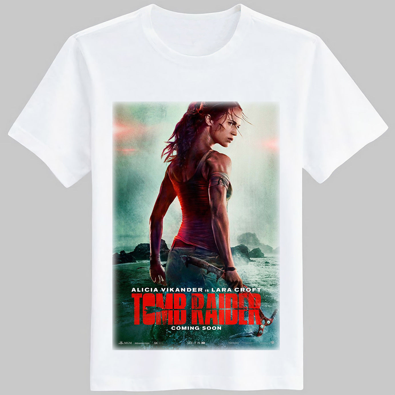 Gildan Tomb Raider Movie 2018 poster T Shirt ( S M L XL 2XL ) ...