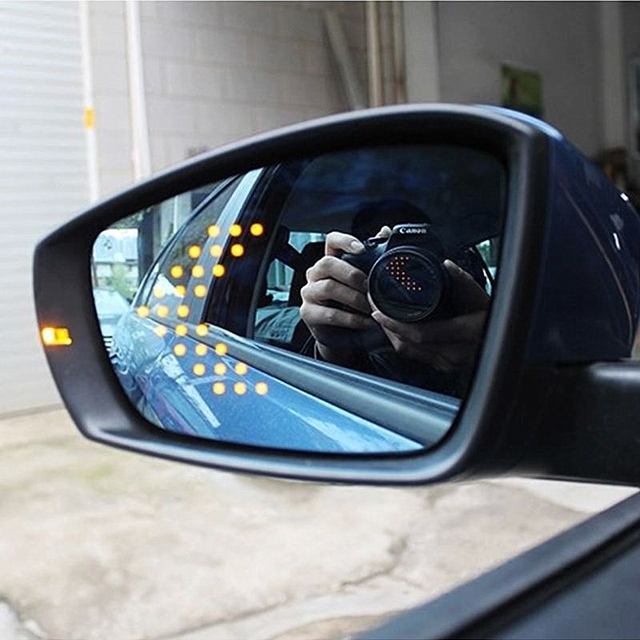 Brand New Power Heated Blue Wide Angle Sight Side Rear View Mirror Glasses For VW Polo 2011-2016