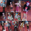 15pcs=clothes+shoes+handbag for Original Monster High dolls , clothing doll's dress for Monster Hight dolls
