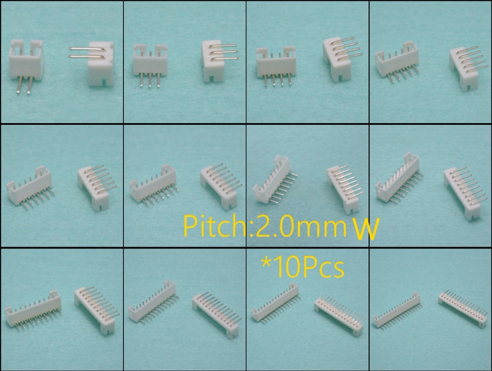 2.0mm Pitch PH Connector Header Connector Wire Connectors Adaptor Horizontal curved 90 degrees 2P3P4P5P6P7P8P9P10P11P12P14P16P