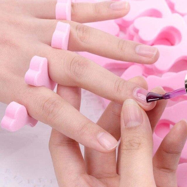 Wirinef Nail Art Professional Toes Separators Fingers Foots Sponge Soft Gel Uv Polish Manicure