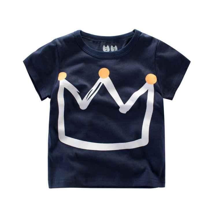 ฤดูร้อนเสื้อผ้าเด็กเสื้อผ้าเด็ก T เสื้อไดโนเสาร์ฝ้ายแขนสั้นเสื้อยืดเด็กสบายๆน่ารักเสื้อยืด 2-8Y เสื้อ
