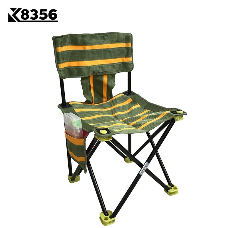 K8356 Qualité Portable 600D Nylon Tissu lFloding Chaise De Pêche En Plein Air Plage Camping Chaise Vert Avec Jaune 4 Tailles Pour Choisi