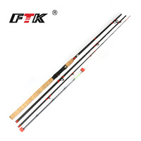 FTK 99% Carbon Fishing Rod Feeder Rod With 3 Rod Tips 3 Section Lure Weight 60 160G 3.3M 3.6M 3.9M For Carp Fishing