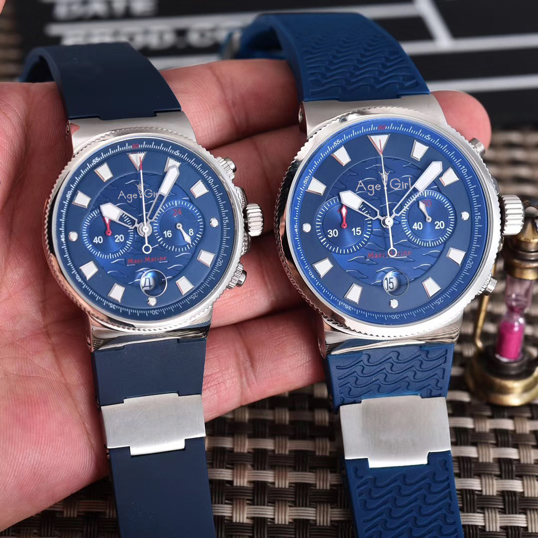 Luxury Brand New Men Womens Chronograph Silver Black Blue Limited Silver Rubber Stainless Steel Watches Luminous Waterproof AAA+Luxury Brand New Men Womens Chronograph Silver Black Blue Limited Silver Rubber Stainless Steel Watches Luminous Waterproof AAA+