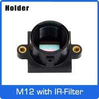 M12 Halterung PC + 30% GF mit 650nm IR Filter Für M12 Objektiv Unterstützung 20mm Loch Abstand PCB board Modul oder CCTV Kamera