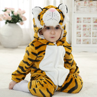 Green Home Spring Winter Funny Baby Clothes Flannel Baby Boys Clothes Cartoon Animal Jumpsuits Infant Girl