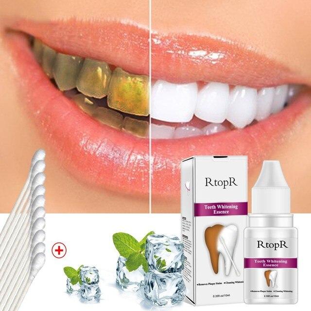 Los dientes higiene Oral esencia blanquear esencia eficaz de eliminar la placa Manchas de producto de limpieza de la limpieza de los dientes de 10 ml