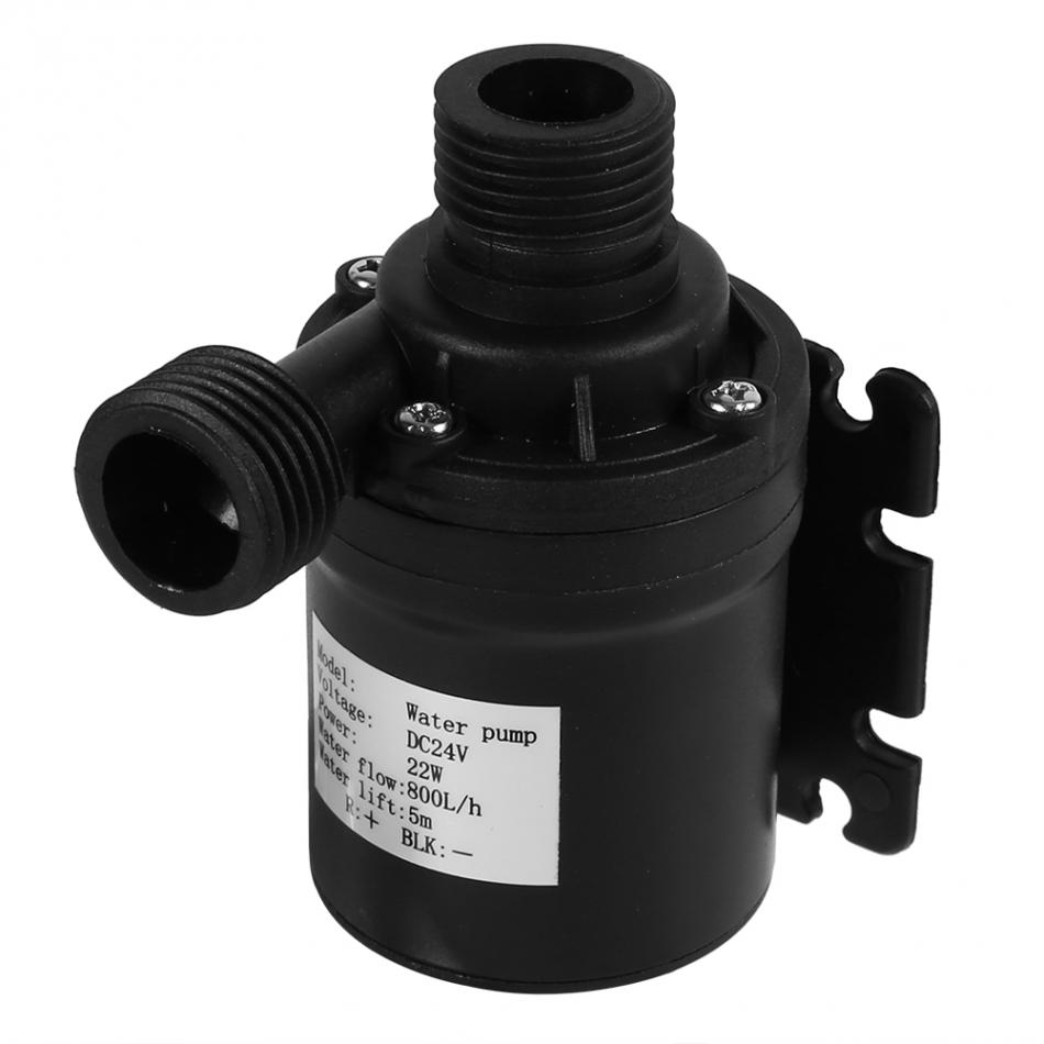 DC 24V Water Pump Water Heater Circulation Pump Solar Energy Brushless Motor Aquarium Submersible 800L/H 5M bomba peniana