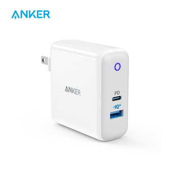 Anker Dual Port 49.5W USB C Wall Charger,PowerPort II with Power Delivery for iPhone iPad MacBook,PowerIQ 2.0 for S9/S9+/S8 etc