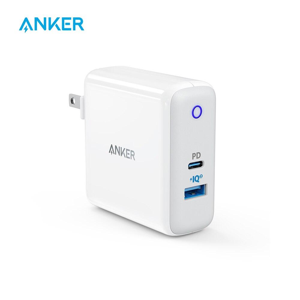 Anker double Port 49.5 W USB C chargeur mural, PowerPort II avec livraison d'énergie pour iPhone iPad MacBook, PowerIQ 2.0 pour S9/S9 +/S8 etc.