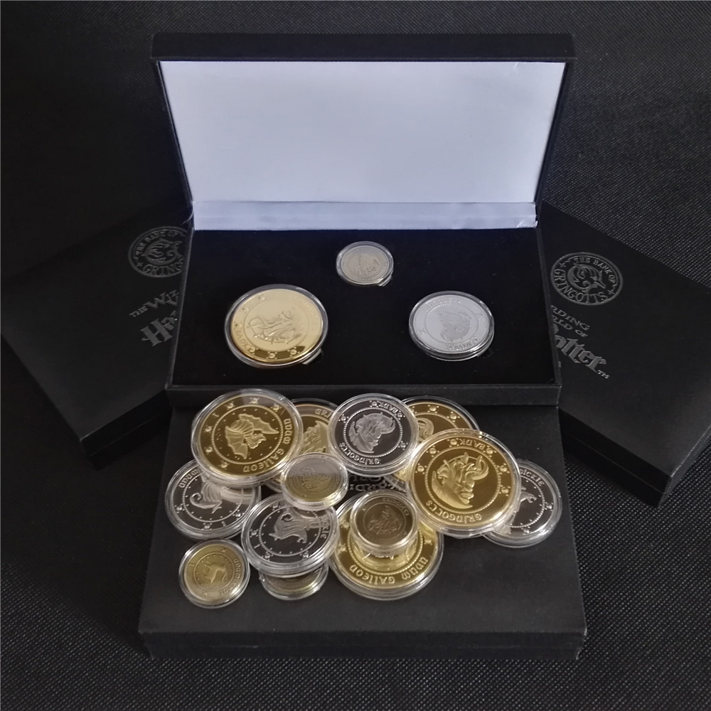 Harry Pottor Gringotts Bank Coin Collection Wizarding World ,Hogwarts,Noble With Gift Box Christmas New Year Children Gifts