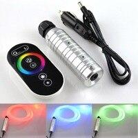 Dokunmatik LED fiber ışık kaynağı cihazı Otomobil dekoratif mini fiber optik lamba