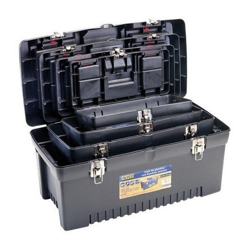 ALYCO 192765-Pack 4 Boxs Plastic Tools 580x280x295mm