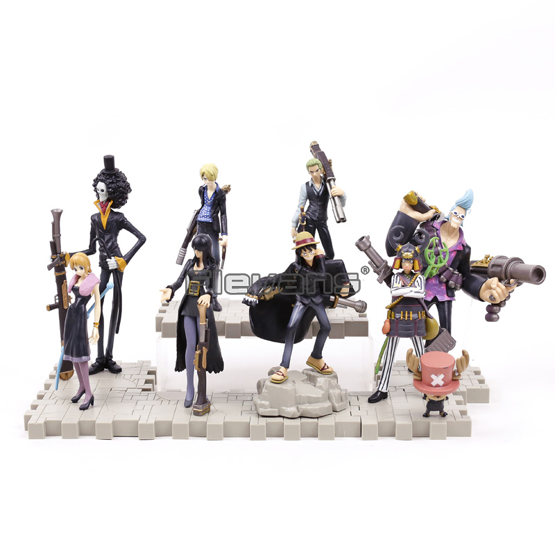 Anime One Piece Strong World PVC Figures Toys 9pcs/set Luffy Zoro Sanji Chopper Nami Robin Franky Usopp Brook new high quality one piece hoodie anime roronoa zoro sanji luffy cosplay coat jacket winter men thick zipper warm sweatshirt