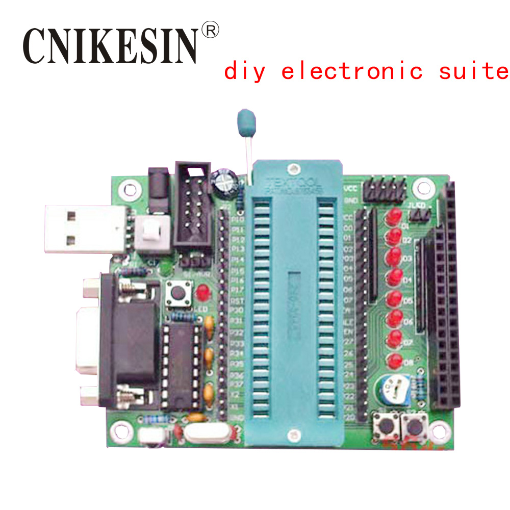 CNIKESIN 51 MCU Minimum System Production Suite, DIY Parts Support AT, STC Microcontroller Development Board Diy Electronic Kts