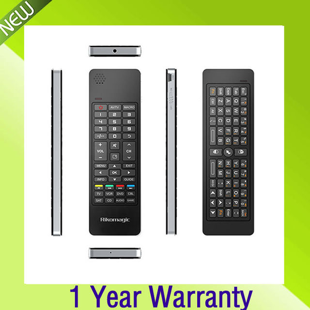 Free Shipping All in one device,2.4G Qwerty wireless keyboard+Air fly mouse+IR remote+Audio Chat,build in speaker and Microphone